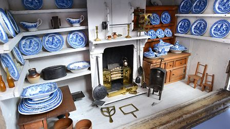 Fully-equipped kitchen of the 18th century Norwich Baby House, Strangers'' Hall collection (© Norfol
