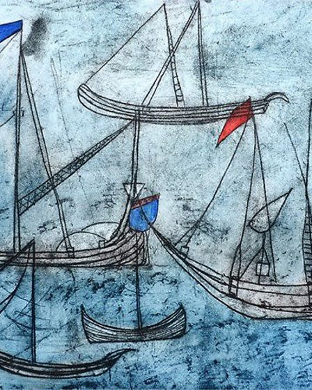 Etching with acquatint by Michael Flint