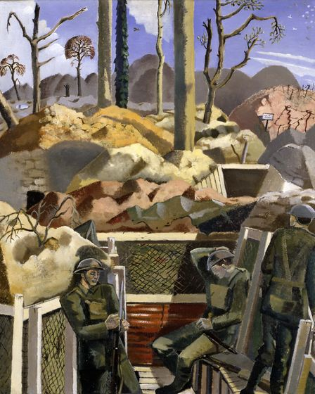 Spring in the Trenches, Ridge Wood, 1917, Paul Nash (from the Imperial War Museum, London)