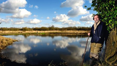 Wheatfen Nature Reserve warden David Nobbs, who is retiring after 25 years at the Ted Ellis Trust si