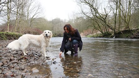 Mudlarker, Lynne Pew walks Alice along the river and searches for finds