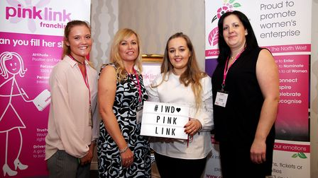 Pink Ladies who organised the event Camille Winklemann, Coral Horn, Niamh Blakemore and Ceri Bastin
