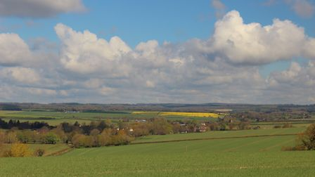 Fine views over the Tarrant Valley
