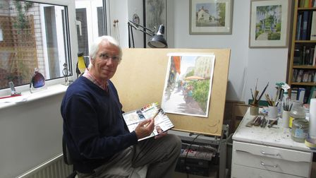 Richard Brooks mostly uses watercolour but also oils and pastels