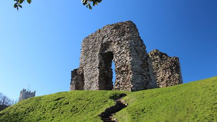 The ruins of the Norman Castle