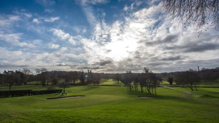 The view across Costessey Park Golf Club