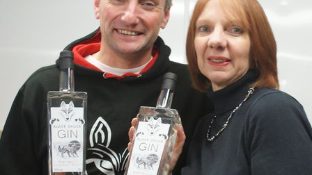 Patrick and Sarah Saunders from the Norfolk Sloe Company