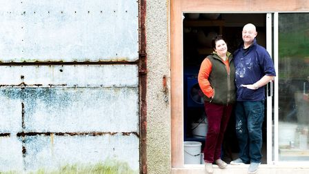 Siobhan Newton and Martin Miles Moore at their studio in Lupton