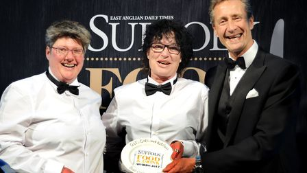 Suffolk Food and Drinks Awards 2017 Best Coffee and Tea Shop 2017. L-R: Thalia Barker, right, a