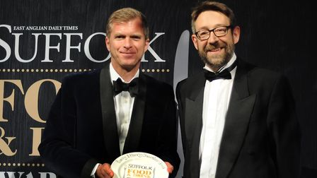 Suffolk Food and Drinks Awards 2017 Food and Drink Hero Award 2017 Henry Chevallier-Guild, left,