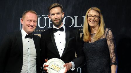 Suffolk Food and Drinks Awards 2017 Best Restaurant 2017 Zack Deakins and Paul Bailey, left, fr