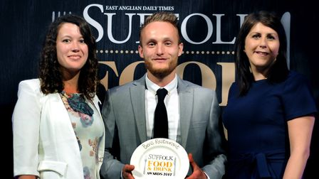 Suffolk Food and Drinks Awards 2017 Field to Folk Award 2017: L-R: Ben Hutton and Rebecca Cook