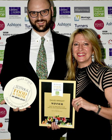 Suffolk Food and Drinks Awards 2017 East of England Co-Op Special recognition Award 2017 David
