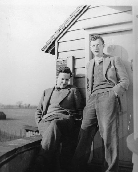Benjamin Britten and Peter Pears relaxing together in Aldeburgh