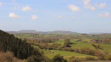 Views to Langdon Hill and Lyme Regis