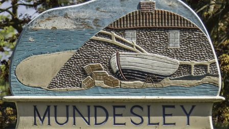 Mundesley Sign is inspired by the village's seafaring heritage (photo: Leigh Caudwell)