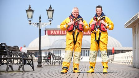 Father and son, Peter and Wesley Stokes at Cromer Lifeboat Station (photo: Ian Burt)