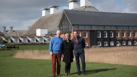 The management team at Snape Maltings.L-R Roger Wright,Kate Morgan and Harry Young.