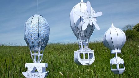 Miniature hot air balloons
