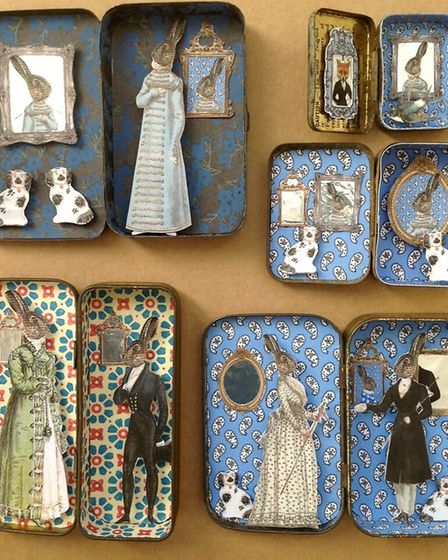 Tins full of enticing dioramas, often involving hares dressed in clothes