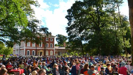 An outdoor performance at Lytham Hall