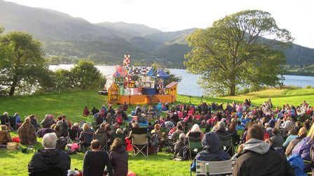 An outdoor performance at Brantwood
