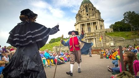 An outdoor performance at Lancaster's Williamson Park