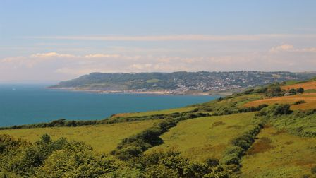 View to Lyme Regis from the South West Coat Path