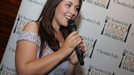 Kirsty Tattler provided the entertainment during the Cheshire Life Food and Drink Awards reception