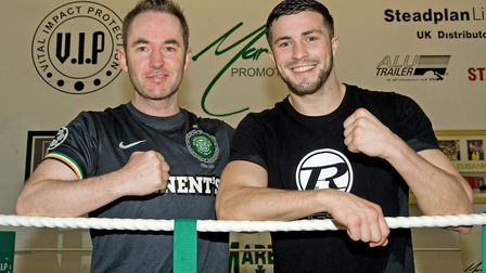 Trainer Kevin Maree with boxer Mark Heffron