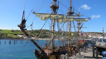 Step aboard the frigate Shtandart dating from 1703 at the Purbeck Pirate Festival