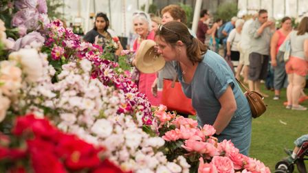 The flower show is held in August
