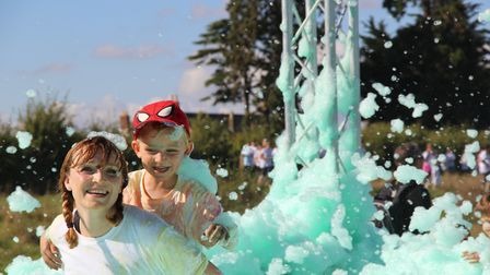 Catch the colourful bubble run for St Margaret's Hospice