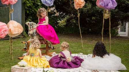 The dresses are reminiscent of those found in fairytales