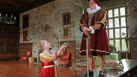 Hoghton Tower celebrate the 400th anniversary of King James I's visit......Geoff Goodspeed and Diane