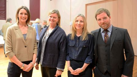 Organisers and speakers at the mindfulness and welbing conference at Framlingham College, l-r, Lucy