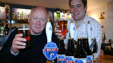 Brancaster Brewery's James Nye with his father Cliff