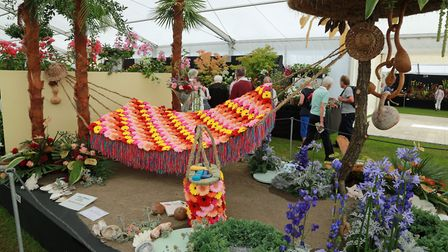 A Mediterranean themed display by Southport florist, Tom Hodge at last year's flower show