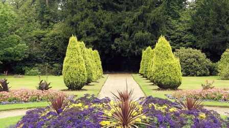 The gardens at Hylands House in Chelmsford