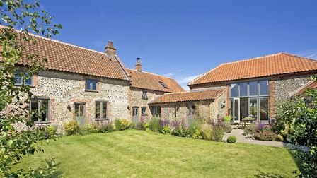 Exterior: Built around 1747. Now a conversion of a pair of cottages and barn into luxury five-bedroo