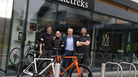 The Biketreks team, from theleft, Tom Hallett, Keith Ronson, Simon Hocking and Simon Metcalfe