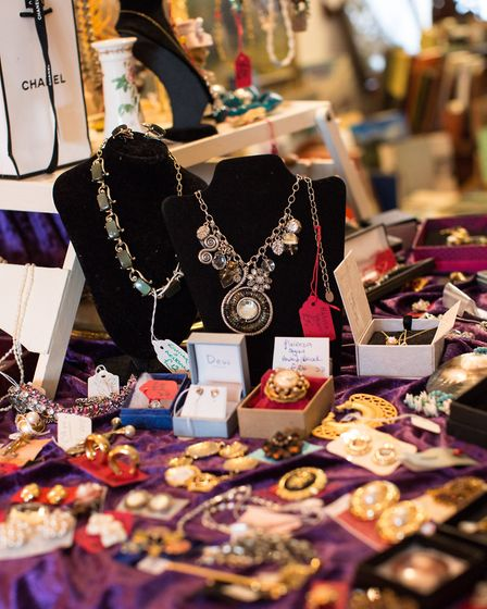 The vintage shop is packed with quirky items