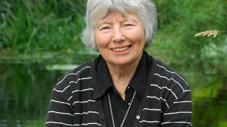 Biographer Ann Thwaite taking in the atmosphere of Ashdown Forest during filming of Goodbye Christop