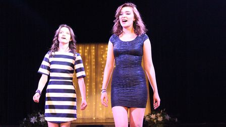 Singers Lucy and Zoe perform an inspirational duet