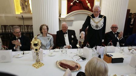 The Lord Mayor recreates the moment King James I knighted a loin of beef