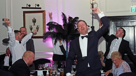 Andrew Nutter leads the celebrations for Nutters Restaurant, Rochdale....Lancashire Life Restaurant