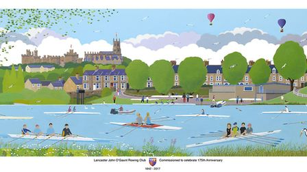 A special painting by local artist Charles Jacobs was commissioned to commemorate the clubs annivers