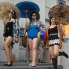 The Bathing Belles Emma Edwards, Dawn Trigwell, and Michelle Hollamby