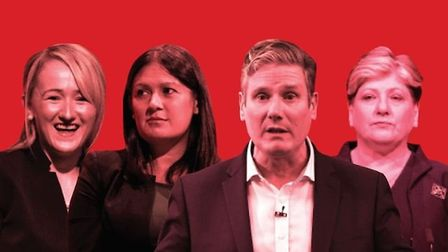Rebecca Long-Bailey, Lisa Nandy, Keir Starmer and Emily Thornberry. Photograph: Getty/TNE.