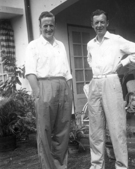 Benjamin Britten and Peter Pears relaxing together in Suffolk